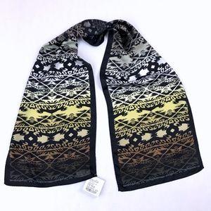 Nicole Miller 100% Silk Scarf Autumn Shades Print